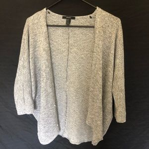 Forever 21 Batwing Sleeve Cardigan Gray